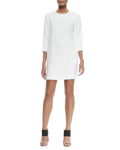 Round-Neck Jacquard Dress