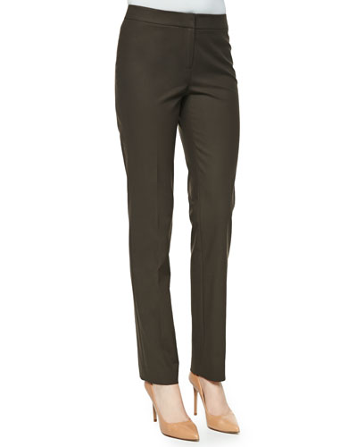 Crosby Metropolitan Straight-Leg Pants