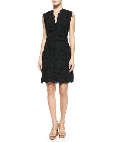 Selena Floral-Cutout Sheath Dress