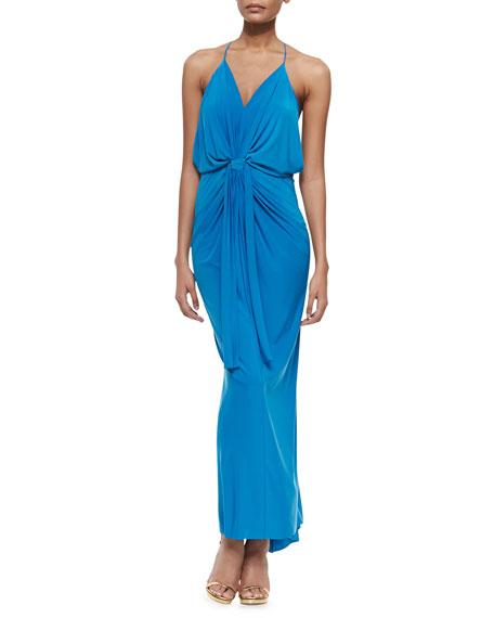 Sleeveless V Neck Maxi Dress