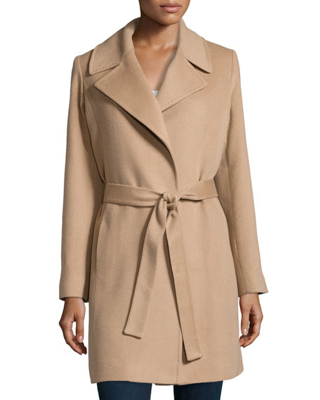 famous designer brand new styles new selection Cashmere Notched-Collar Wrap Coat Camel