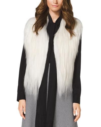 Cropped Goat Fur Vest