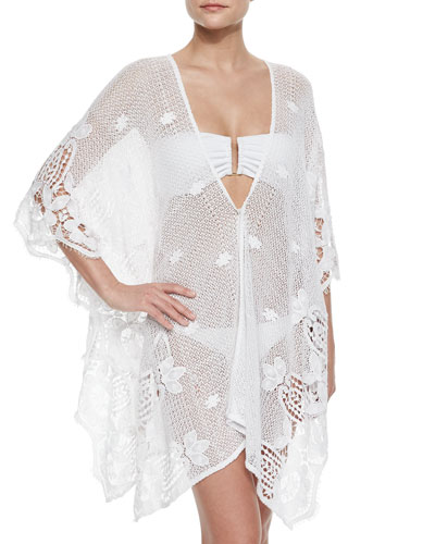 Gaby See-Through Crochet Coverup