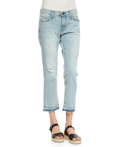 4aed9948f681e2 Current/Elliott The Cropped Straight-Leg Jeans