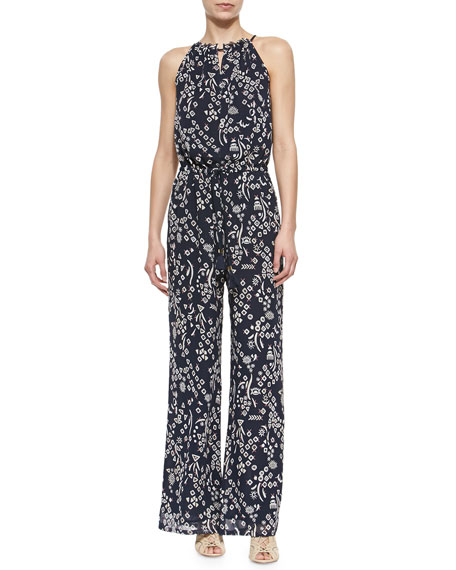 f16ac3eafe97 Tory Burch Atelier Printed Sleeveless Jumpsuit