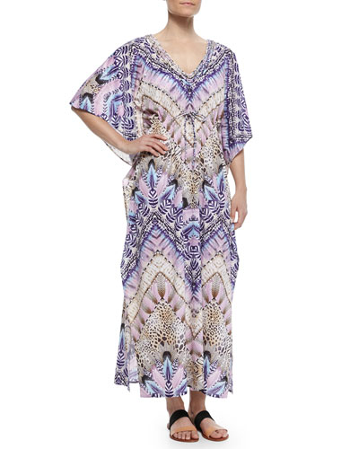Femme Printed Caftan Coverup