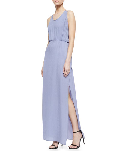 Crepe Maxi Dress, Purple
