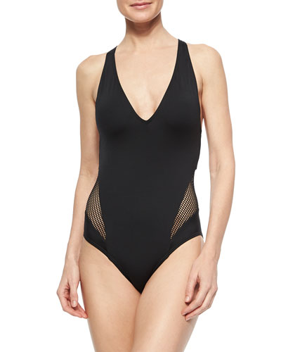 City Slick Solid/Netted One-Piece