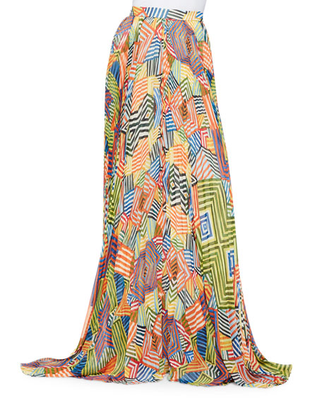e5fed032c Alice + Olivia Shannon Printed Pleated Maxi Skirt