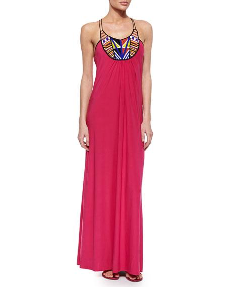 34cb3fb181e T-Bags Bead-Embellished Maxi Dress