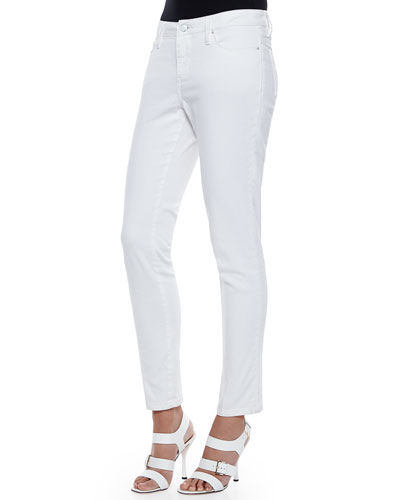Isabel Slim Ankle Jeans, White