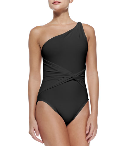 One-Shoulder One-Piece Swimsuit