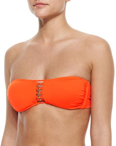 8755d0f86b782 PilyQ Braided Cutout Bandeau Bikini Top