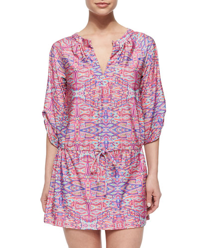 Solana Printed Tunic Coverup