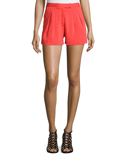 Stretch Crepe Short Shorts