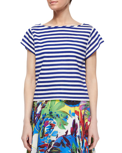 Riviera Short-Sleeve Striped Sailor Tee