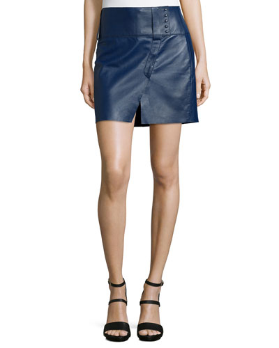 Military Bonded Leather Skirt