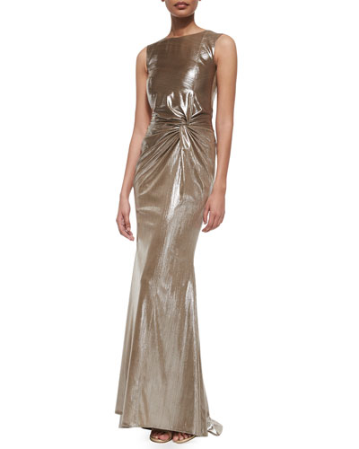 Horus Frosted Knotted Mermaid Gown