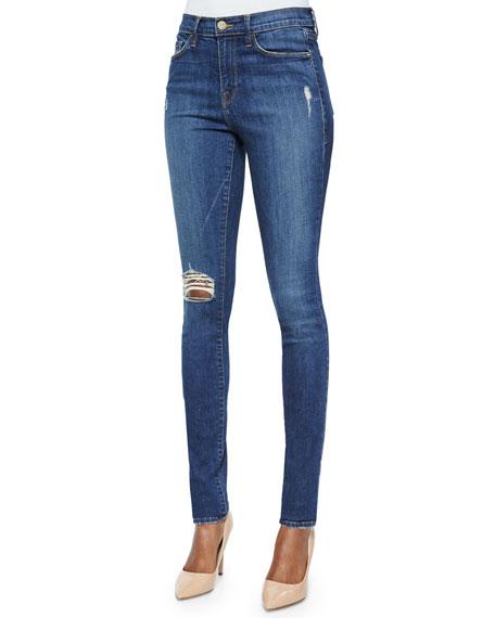 FRAME DENIM Karlie Forever Distressed Skinny Jeans, Walmont