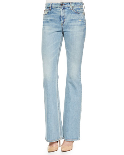Faded High-Rise Flare Jeans, Hana