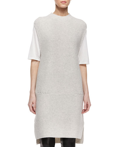 Directional Rib Wool-Blend Dress
