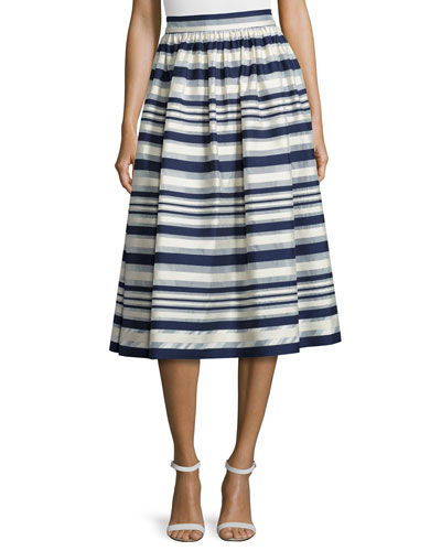 Quinne Striped Midi Skirt
