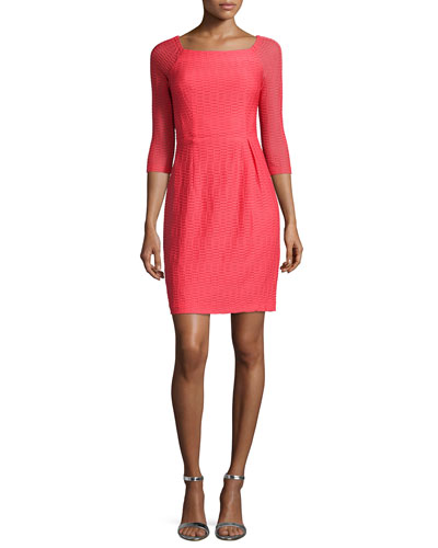Shirred Sheath Dress
