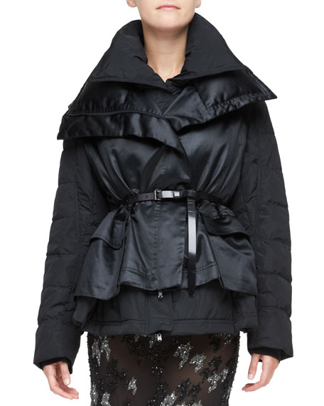 cd71a4c84 Double-Layer Puffer Jacket Black
