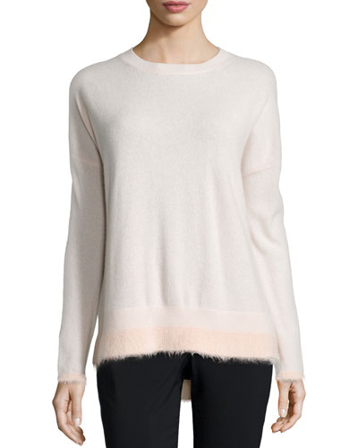 Boxy Long-Sleeve Sweater, Ballet