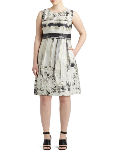 Evelyn Sleeveless Floral-Print A-line Dress, Women's