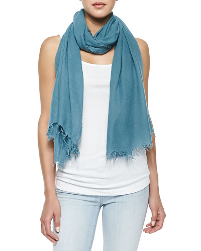 Fringed Scarf in Seasonless Fabric