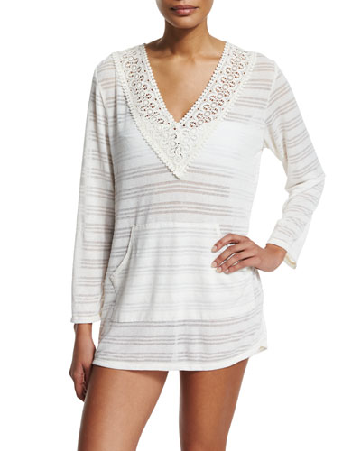 Mazatlan Striped Tunic Coverup