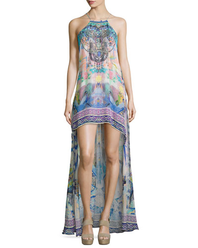 Embellished High-Low Coverup Dress, Gaudi Tribute