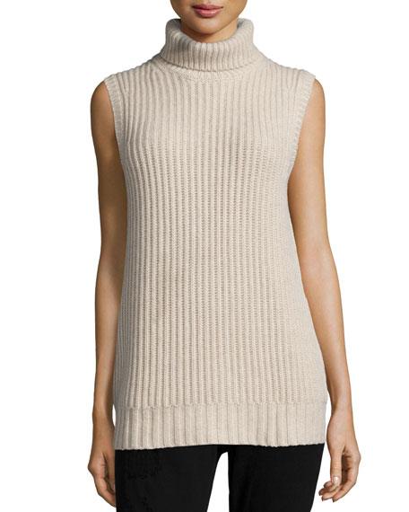 4d10fb3e6fe451 Michael Kors Collection Sleeveless Turtleneck Cashmere Sweater