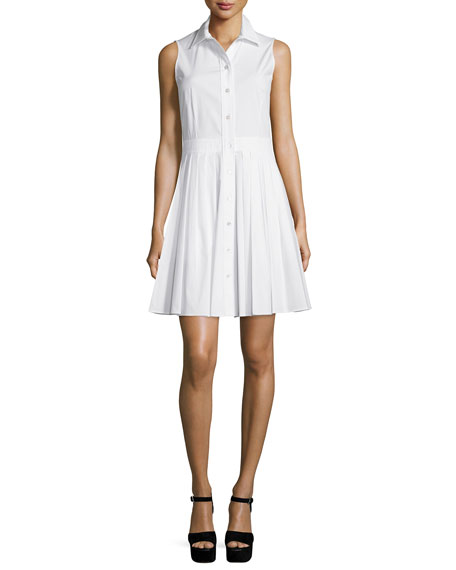 bfcf9d590c8 Michael Kors Sleeveless Pleated-Skirt Shirtdress