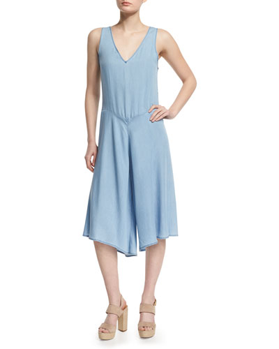 The Joni Culotte Jumpsuit, Blue
