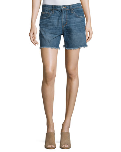 The Ex-Lover Raw-Hem Denim Shorts, Antonia
