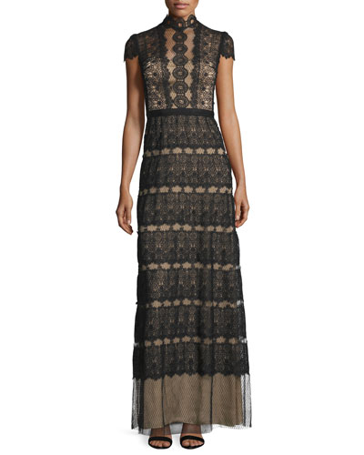 Firenze Lace & Point d'Esprit A-line Gown