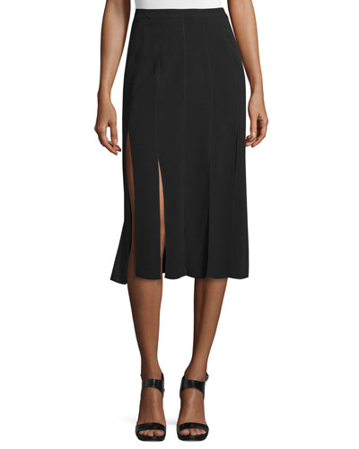 Ellerie Carwash Midi Skirt, Black