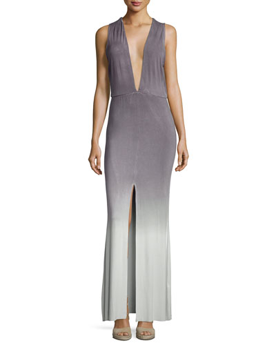 Vanessa Ombre Jersey Maxi Dress, Gray