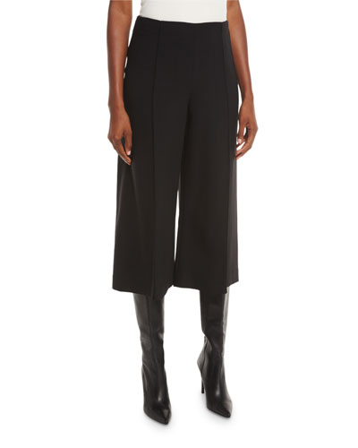 Thompkins Stretch-Woven Culottes, Black