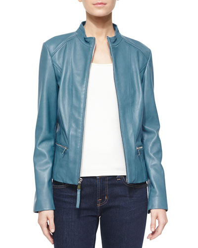 Washed Lambskin Leather Jacket