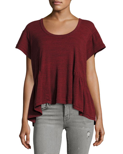 The Girlie Tee, Aurora Red