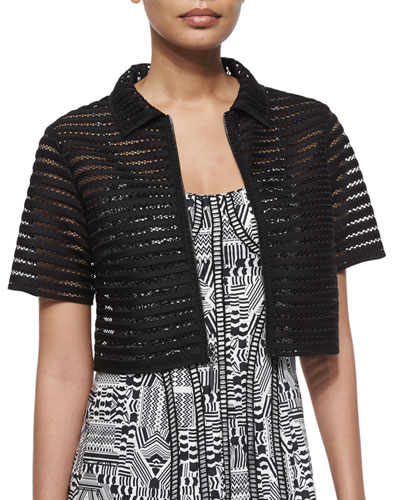 Barely There Mesh Crop Jacket