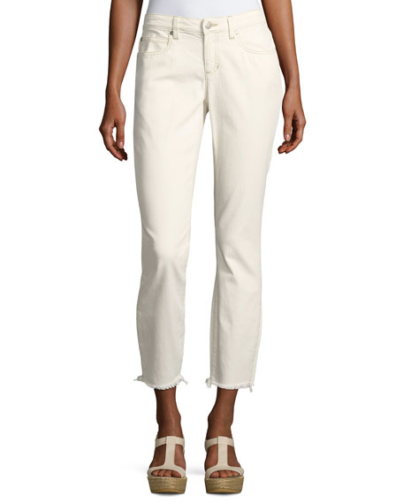 Eileen Fisher Organic Stretch Cotton Slim Ankle Jeans