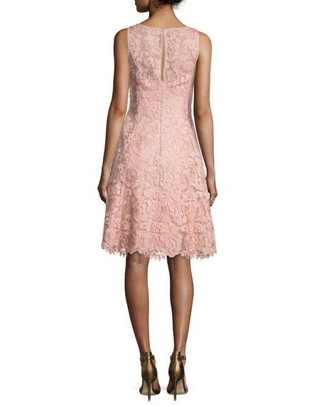 Bato Sleeveless Lace Sheath Dress, Apricot