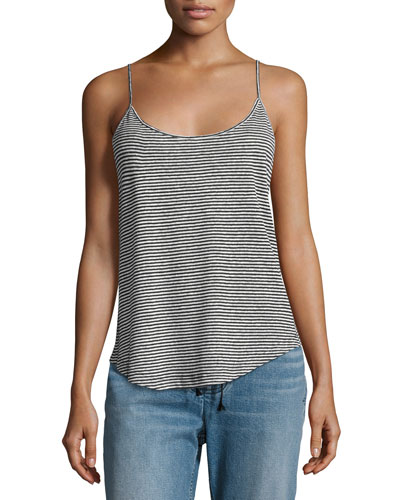 Johnny Striped Linen Tank Top