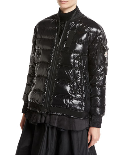 Lucy Quilted Puffer Jacket, Black