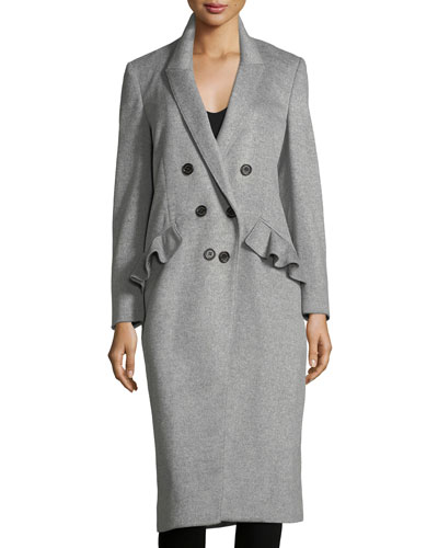 Slim Double-Breasted Wool-Blend Coat