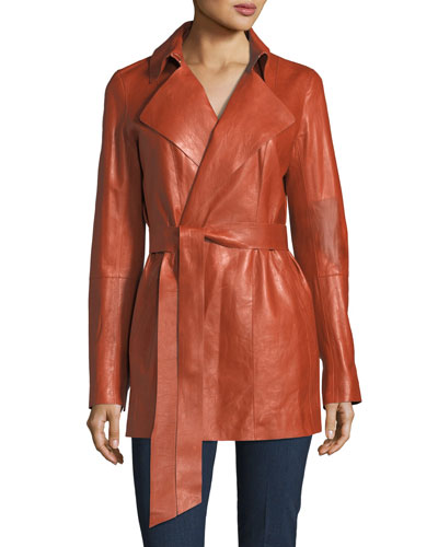 Hadley Leather Trench Coat
